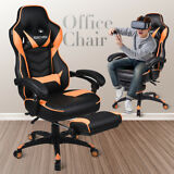 Office Gaming Chair Racing Computer Desk Seat Leather High Back Swivel Recliner