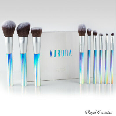 - Docolor Aurora Makeup Brushes 9pc Set Cruelty Free High Quality Synthetic Fibers
