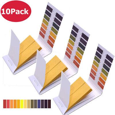 10 Pack 80 Strips Ph 1-14 Test Paper Ph Indicator Lab Litmus Test Urine Saliva
