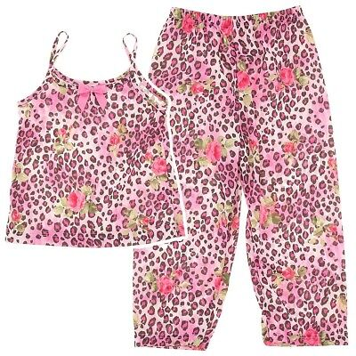 Laura Dare Rose and Leopard Print Pajamas for Girls