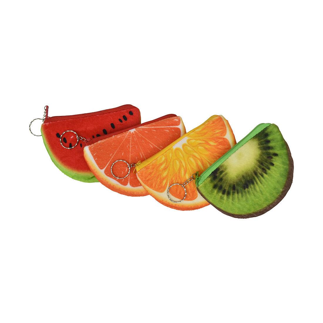 Plush Purse Pouch Mini Coin Fruit Slice Purse Zipper Wallet