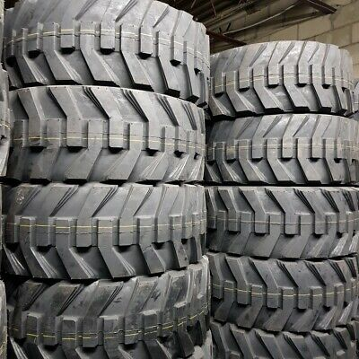 12x16.5 - 4 New Road Crew 14 Ply Skid Steer Tires 12-16.5 Sks With Rim Guard