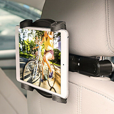"360° Car Tablet Mount Holder Back Seat Headrest for iPad mini/1/2/3/4/Air 7""-12"""