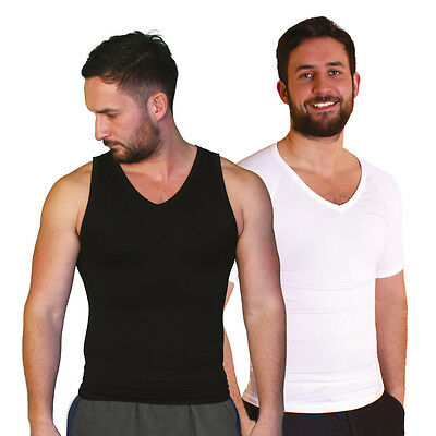 Tone Tee Men's Compression Shapewear Vest or T-Shirt