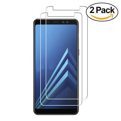 Samsung Galaxy A6 Plus - 2x Displayfolie Panzerglas 9H Härtegrad Schutzglas ..