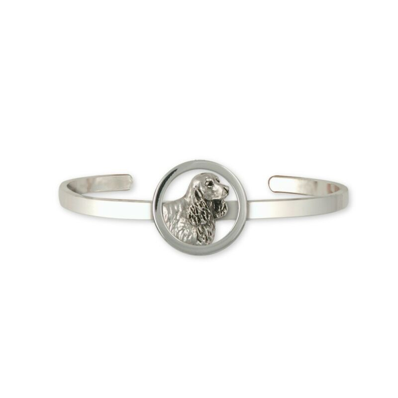Springer Spaniel Bracelet Jewelry Sterling Silver Handmade Dog Bracelet SS5-CB