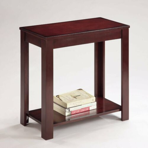 Pierce Chairside Table open Shelf at Bottom Traditional End Table  (Espresso)