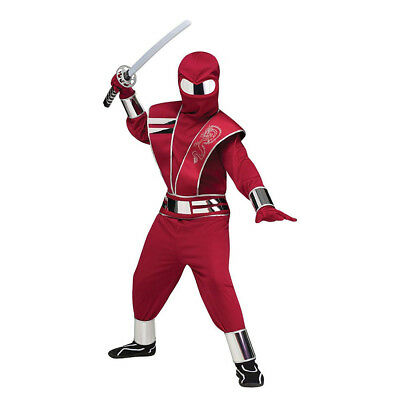 Red Mirror Ninja Boys Child Secret Agent Halloween Costume-L