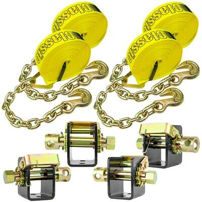 VULCAN Lashing Winch & Chain Anchor Winch Strap Kit - 2