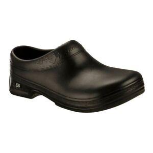 a70a8c6c402 SKECHERS 9064 Womens Clara Black Slip Resistant Work Clogs Shoes 11 ...