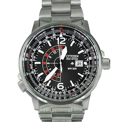 Citizen Mens Bj7000 52E Nighthawk Stainless Steel Eco Drive Watch By Citizen