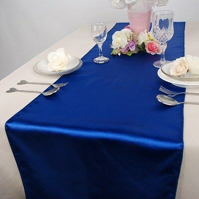 Royal Blue Table Decorations (Royal Blue Satin Table Runners 12