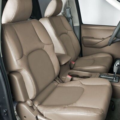 Custom Leather Upholstery - CUSTOM LEATHER UPHOLSTERY FOR NISSAN FRONTIER 2 ROW SEATING