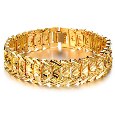2018 Best Gift for Men's jewelry gold plated bracelet bangle in fashion (Best Gold Bracelets For Mens)