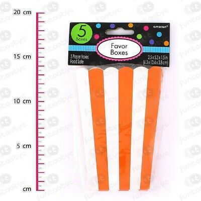 Halloween Popcorn Treat Bags (5 Party Food Treat Favour Bags Popcorn Sweets Halloween Boxes Wedding)