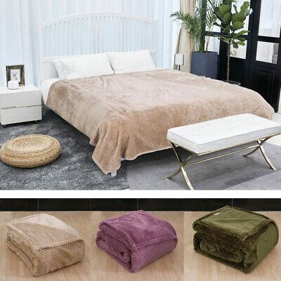 soft warm waffle fleece bed blanket mesh