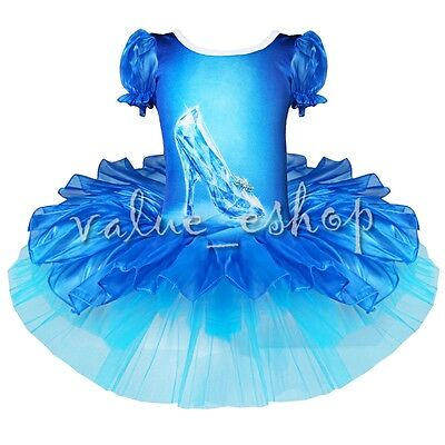 Girl Cinderella Queen Crystal Shoes Dress Costume Princess Fancy Party - Crystal Queen Kostüm