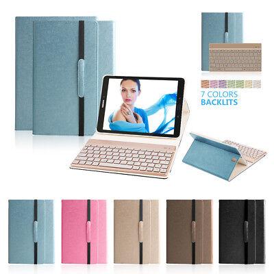 Samsung Galaxy Tab S3 9.7 SM-T820 T825 7 Color Backlight Bluetooth Keyboard Case (Bluetooth Keyboard Galaxy Tab 3)