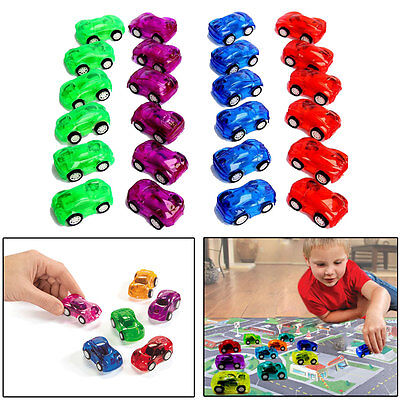 Pull Back Mini Race Cars 24 Pcs Translucent Pull Back Let Go 2  Racing Toy Cars
