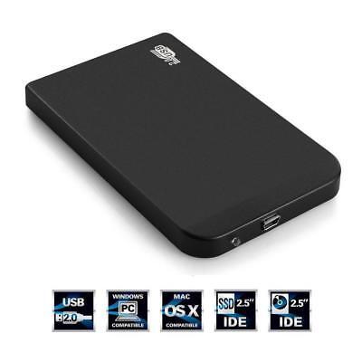 Boîtier Externe Noir Disque Dur 2.5 Pouces Usb 2.0 IDE Portable Hdd Ultra Mince