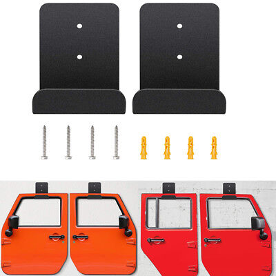2Pcs/Set Door Hanger Wall Mount Storage For Jeep Wrangler CJ YJ TJ LJ JK JKU JL 1990 Jeep Wrangler Door