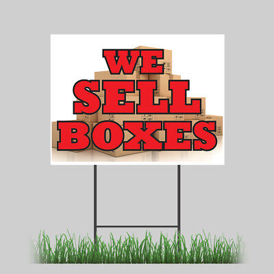12x18 We Sell Boxes Yard Business Cards Letterhead Moving Retail Store Sign