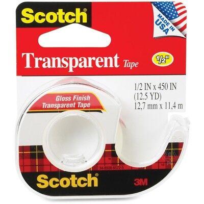 Scotch Transparent Tape - 0.50 Width X 37.50 Ft Length - 1 Core - Acrylate -