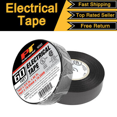 2 Pack Electrical Tape Black 34 X 60 Ft Insulated Electric