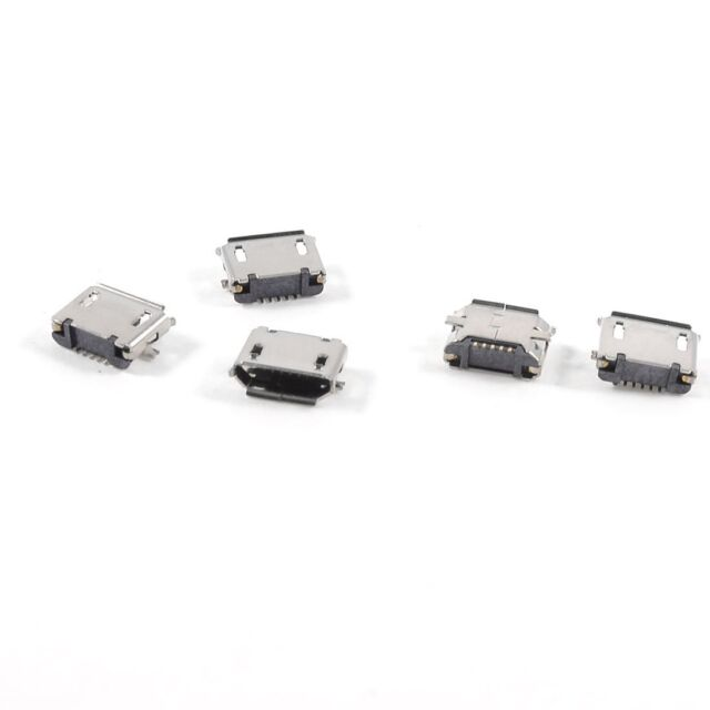 5pcs USB Micro Type-B 5pin Female Jack Connector SMT Socket Surface Mount BT