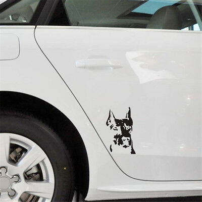 Black Decal Guard Ward Auto Hound Doberman Dog To Off Evil Pet Dog Car Sticker
