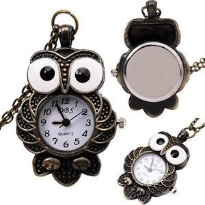 Watch necklace ebay owl watch necklace mozeypictures Images