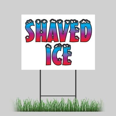 12x18 Shaved Ice Yard Sign Retail Concession Stand Outdoor Vinyl Sign