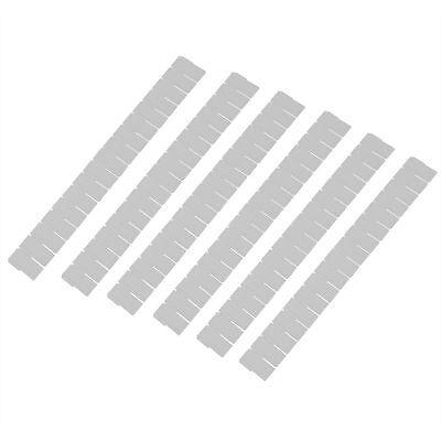 6pcs Plastic Drawer Grid Divider Tidy Organizer White AD
