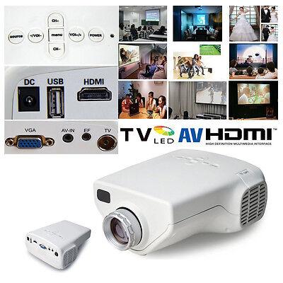 Multimedia Mini 1080P HD LED Projector Home Cinema Video Support AV TV VGA HDMI