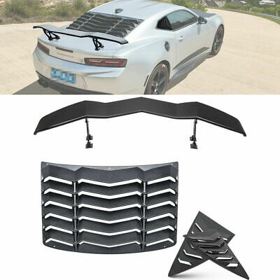 Rear & Side Window Louver SunShade Cover Wing Spoiler for Chevy Camaro 2010-2015