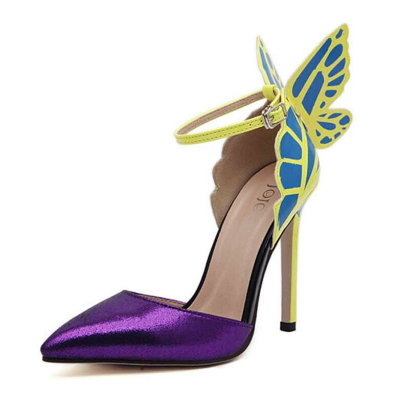 как выглядит Women High Heels Bowtie Toe Ankle Strap Sandals Butterfly wing Stiletto Shoes фото
