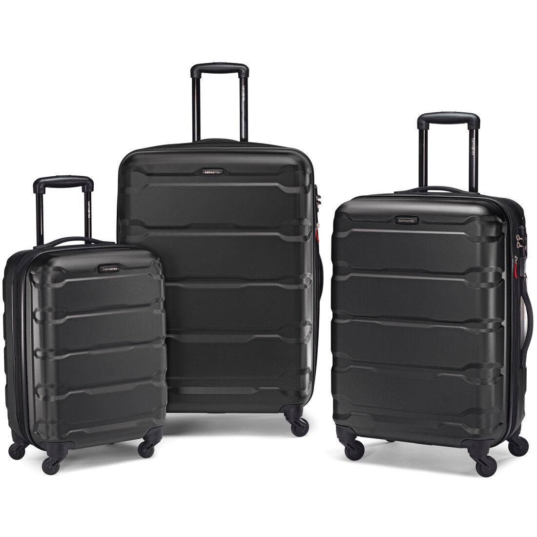 Samsonite Omni Hardside 3 Piece Nested Spinner Luggage Set (20, 24, & 28 Inch) Black