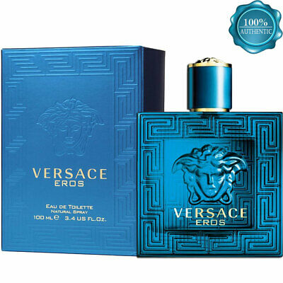 VERSACE EROS EAU DE TOILETTE 3.4 oz Perfume Men AUTHENTIC NEW SEALED BOX