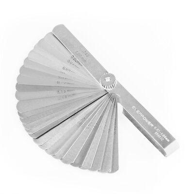 Feeler Gauge Set 32 Blade Thick Stainless Metal Steel Gap Metric Measuring Tool