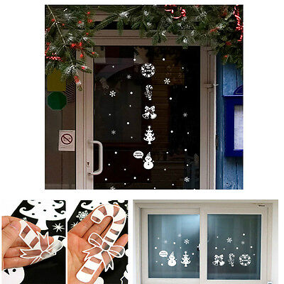 Merry christmas deco removable wall window stickers decals xmas home shop decor