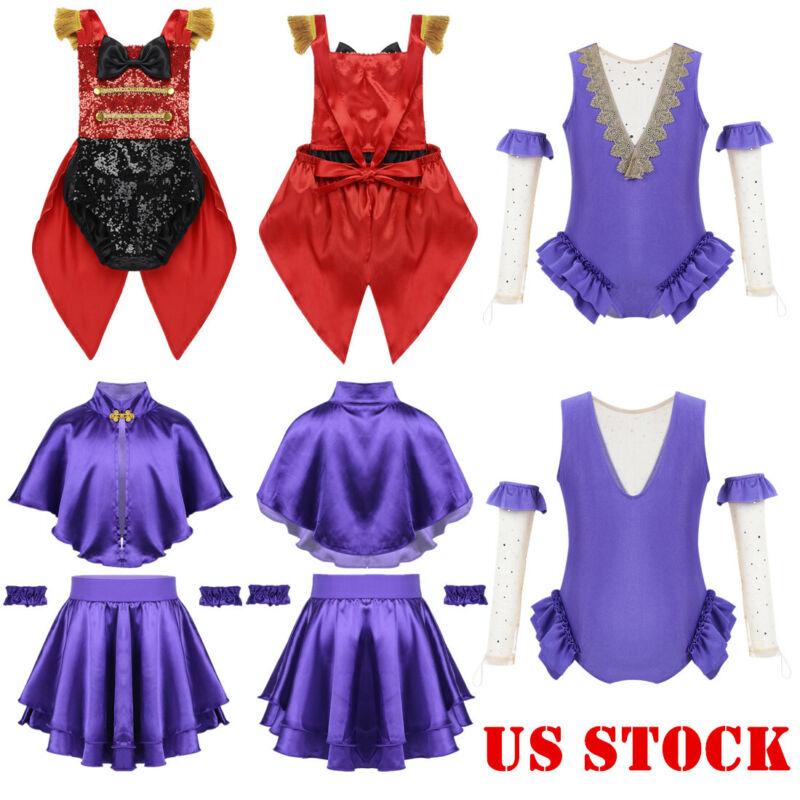 US Kid Girl Ringmaster Circus Woman Fancy Dress Theme Party