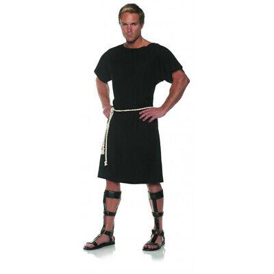 Schwarz Toga Herren Erwachsene Griechische Römische Soldat Halloween Kostüm