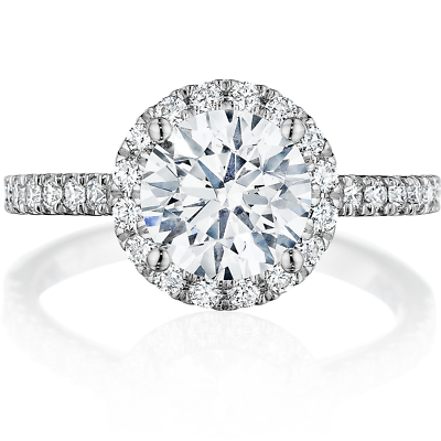 Gorgeous 2.20 Ctw Round Cut Halo Diamond Engagement Ring H  VS2 - GIA Certified 1