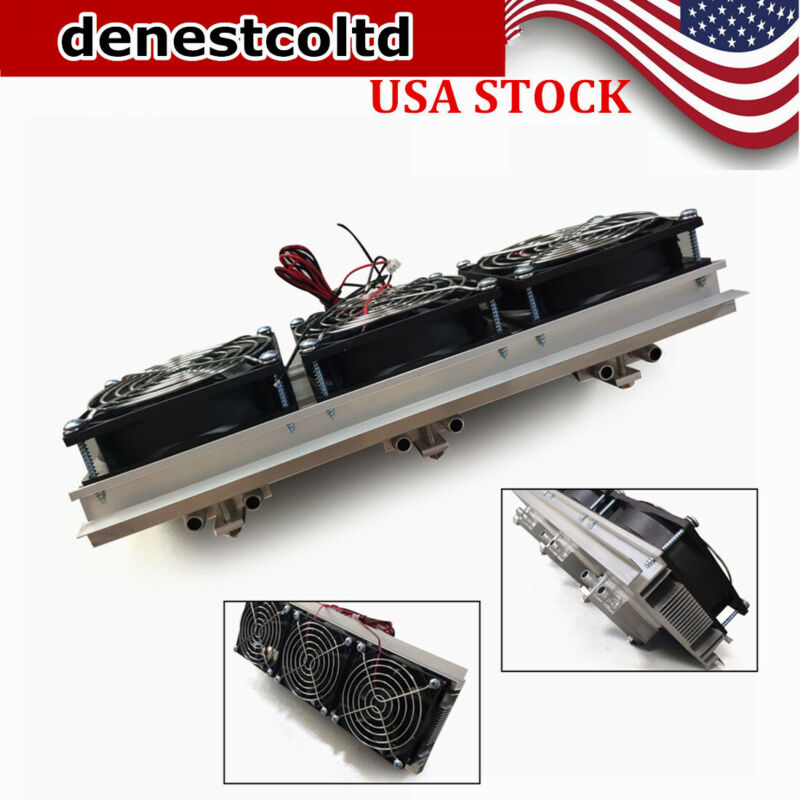 DC 12V 3-Chip Semiconductor Refrigeration Cooler DIY Radiator AIR Cooling Device