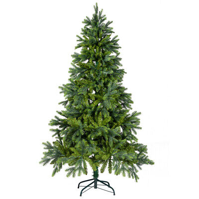 6FT Green PE & PVC Mixed Premium Hinged Deluxe Artificial Christmas Tree