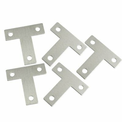 5 Pcs Angle Plate Corner Brace Flat T Shape Repair Bracket AD