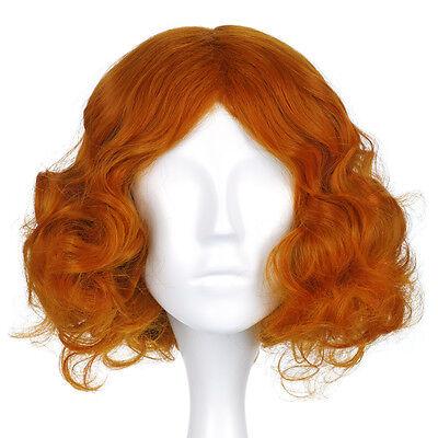 Alice im Wunderland Perücke wig vom Hutmacher Cosplay Gelockt Orange Braun (Hutmacher Alice Im Wunderland)