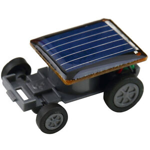 new mini solar powered robot racing car vehicle educational gadget kids gift toy