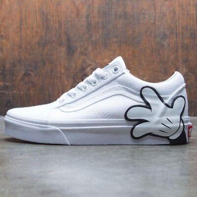 Vans Old Skool Disney Mickey/True White Skate Shoes Men's 3.5 Women's 5