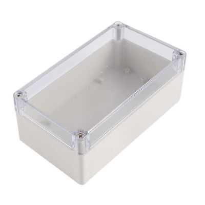Plastic Electronic Project Box Junction Enclosure Case Box Waterproof Clear Cove](waterproof electronics project box)